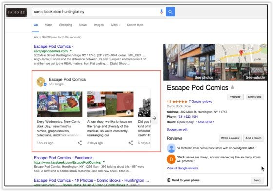 How Will Google Post Business Cards Affect Local SEO?