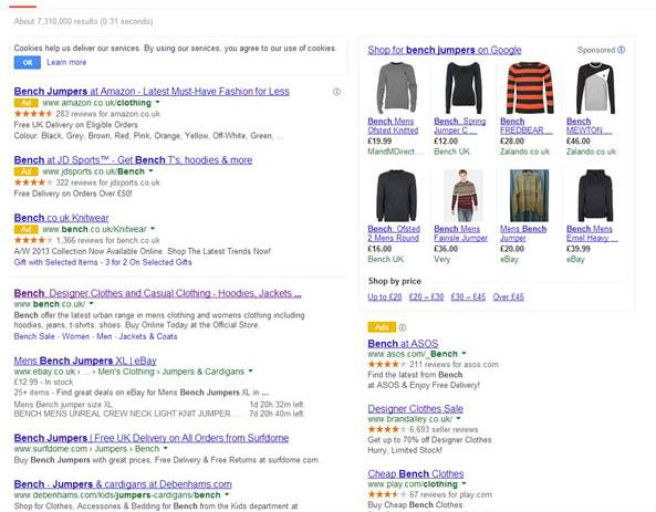 Google's New PPC Format Tests – A Whitewash for Organic Results?