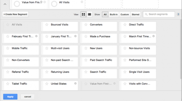 The New Advanced Segments Feature in Google Analytics