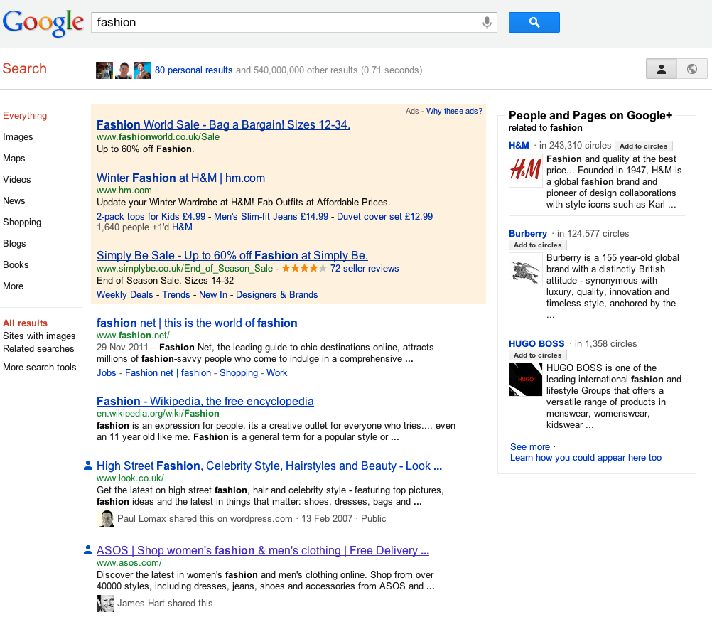 What are the implications of Google Search Plus Your World for SEO?