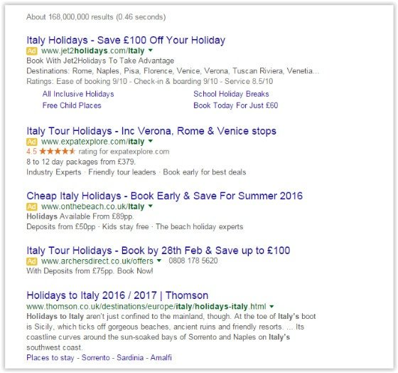 Google Changes Ads Display Positions in SERPs