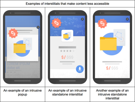 SEO News Roundup: Google Plans To Penalise Sites With Intrusive Interstitials