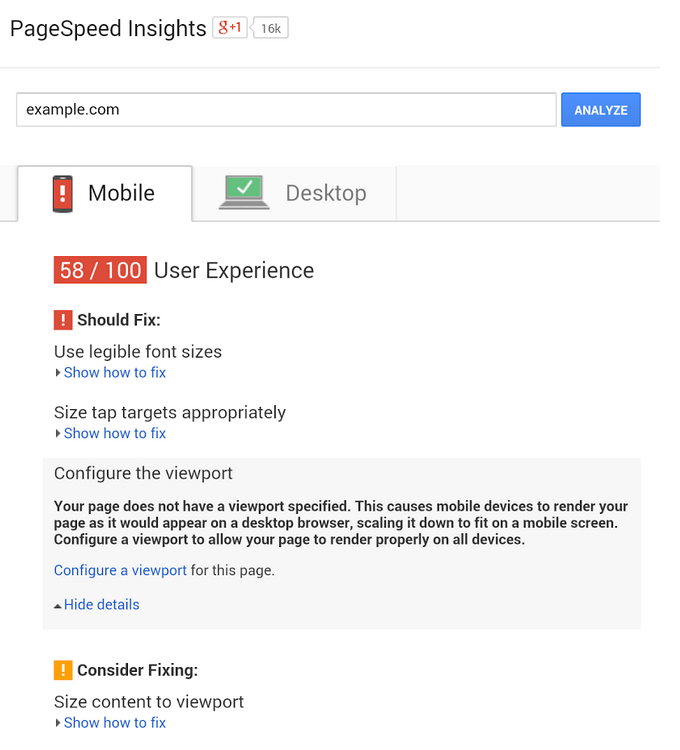 Google adds mobile friendly website tips to its PageSpeed Insights