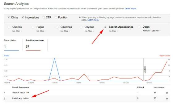 Google Search Console Reveals App Install Button Data