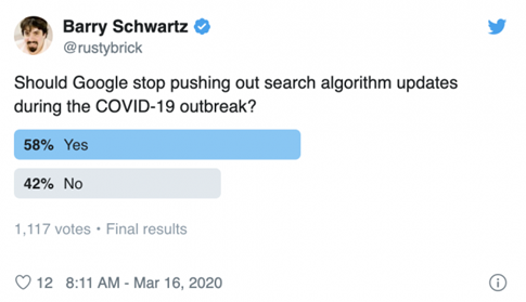Poll - Should Google algorithm updates be paused?